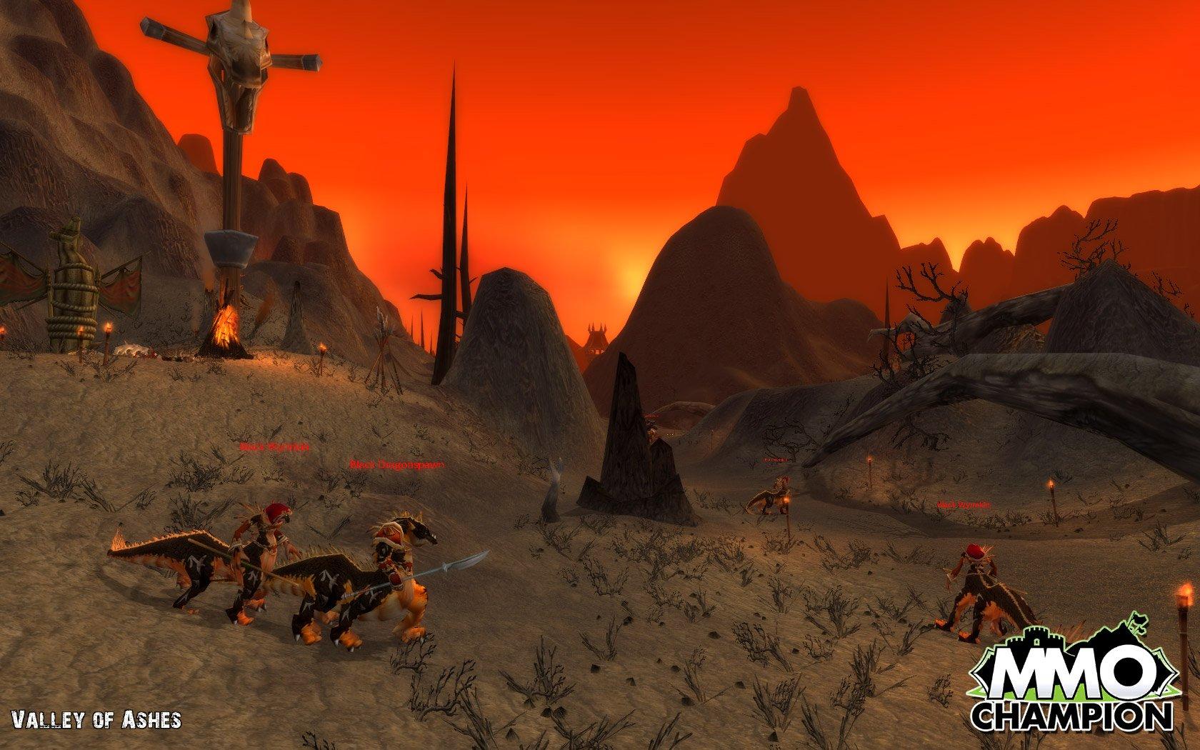 Burning steppes from badlands