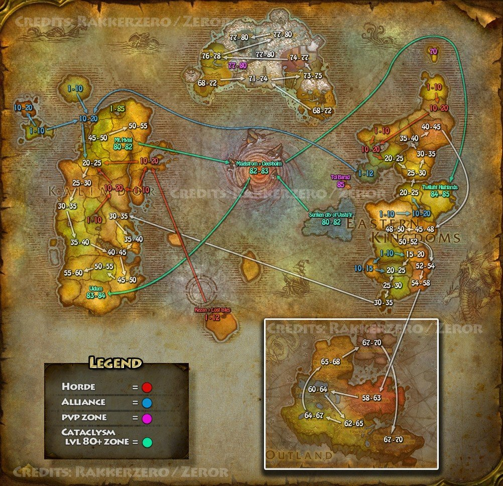 Azeroth level flow map gumiabroncs Gallery