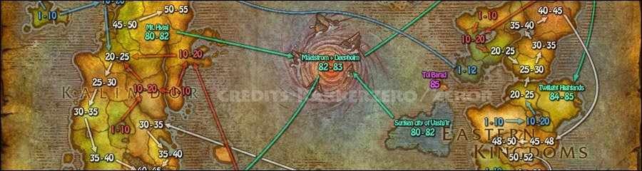 Карта Вов С Уровнями Лич Кинг