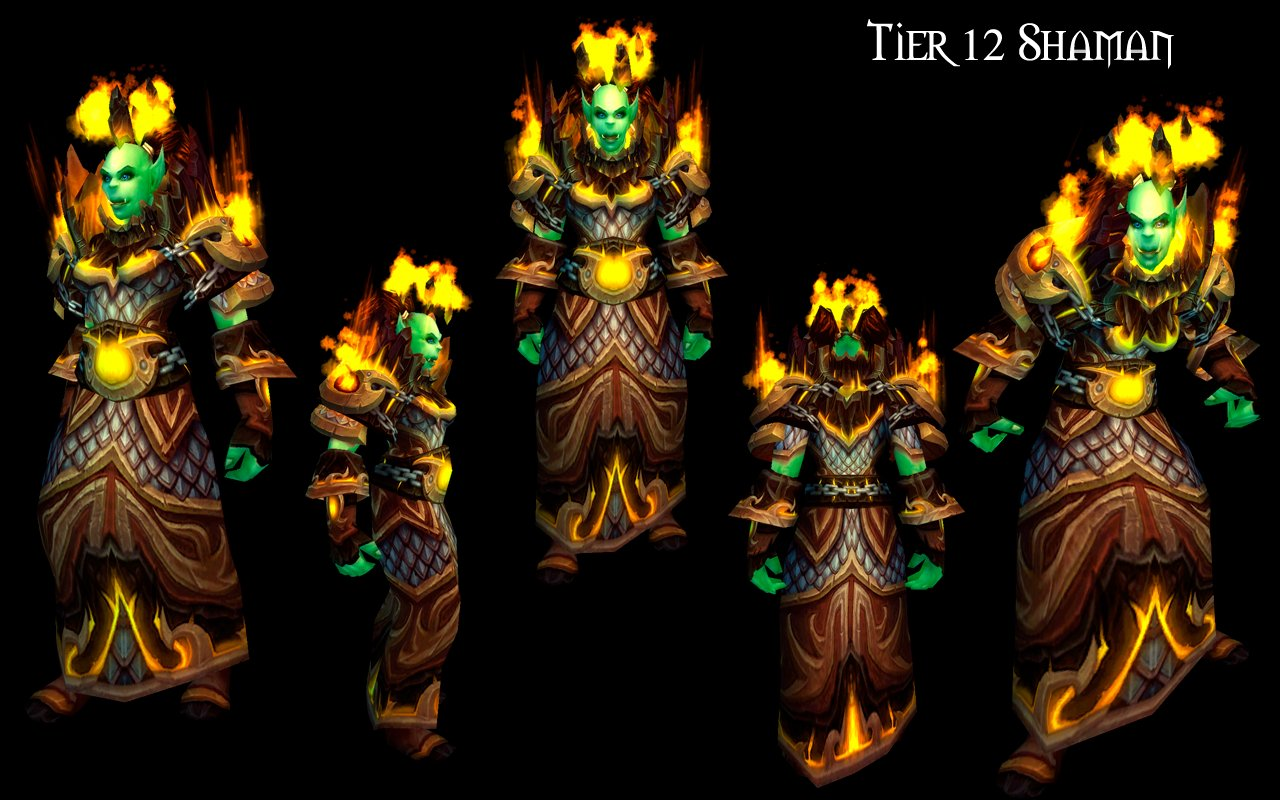 Tier 12 Shaman and Warlock Armor Sets Preview - MMO-Champion