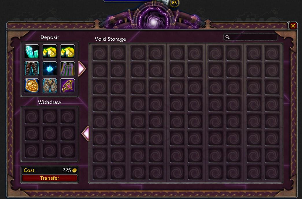 What is void storage