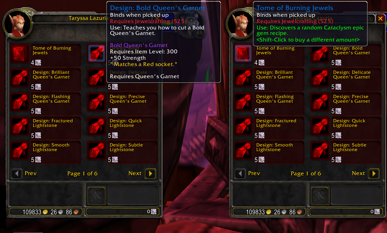 Epic Gear Vendors Wow