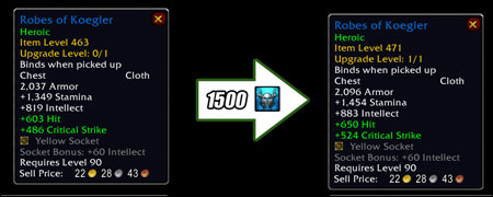 Item Upgrade Preview, ToES Progression, Blue Tweets, Curse Client