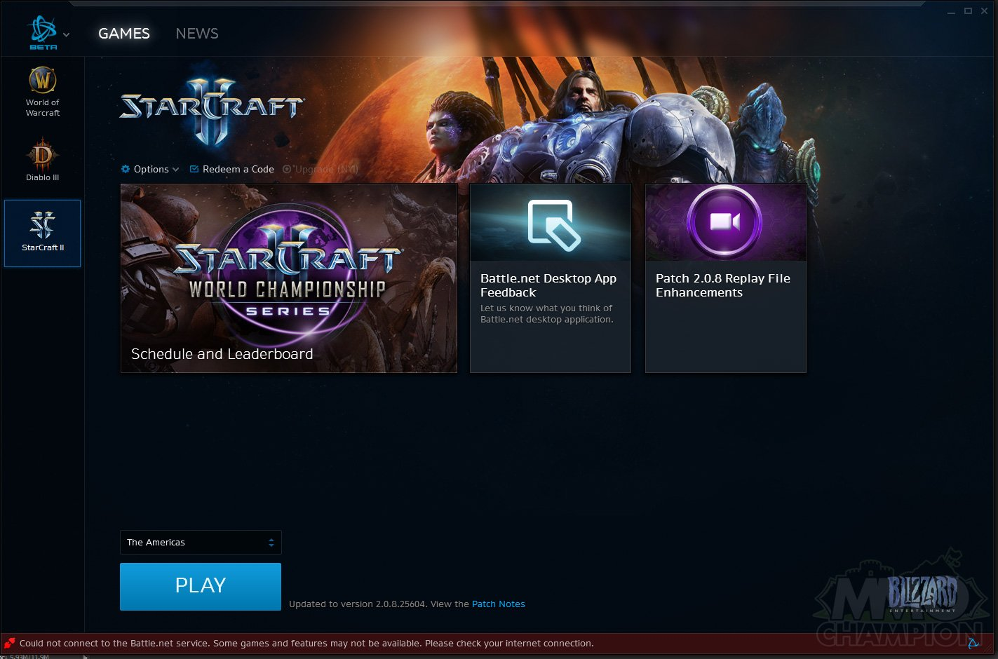 blizzard launcher not loading