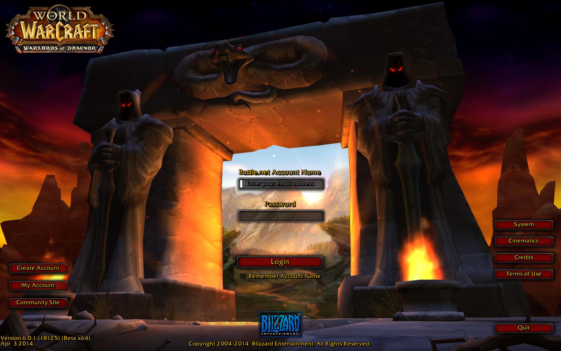 World Of Warcraft Burning Crusade Login Screen Download