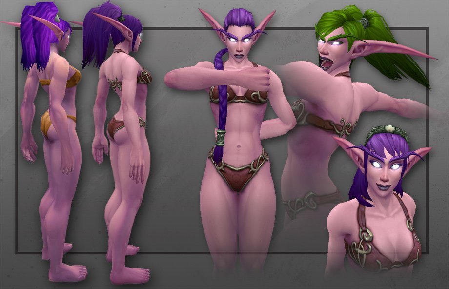 Artcraft Huntress Of Teldrassil The New Night Elf Female Character Model Is Here
