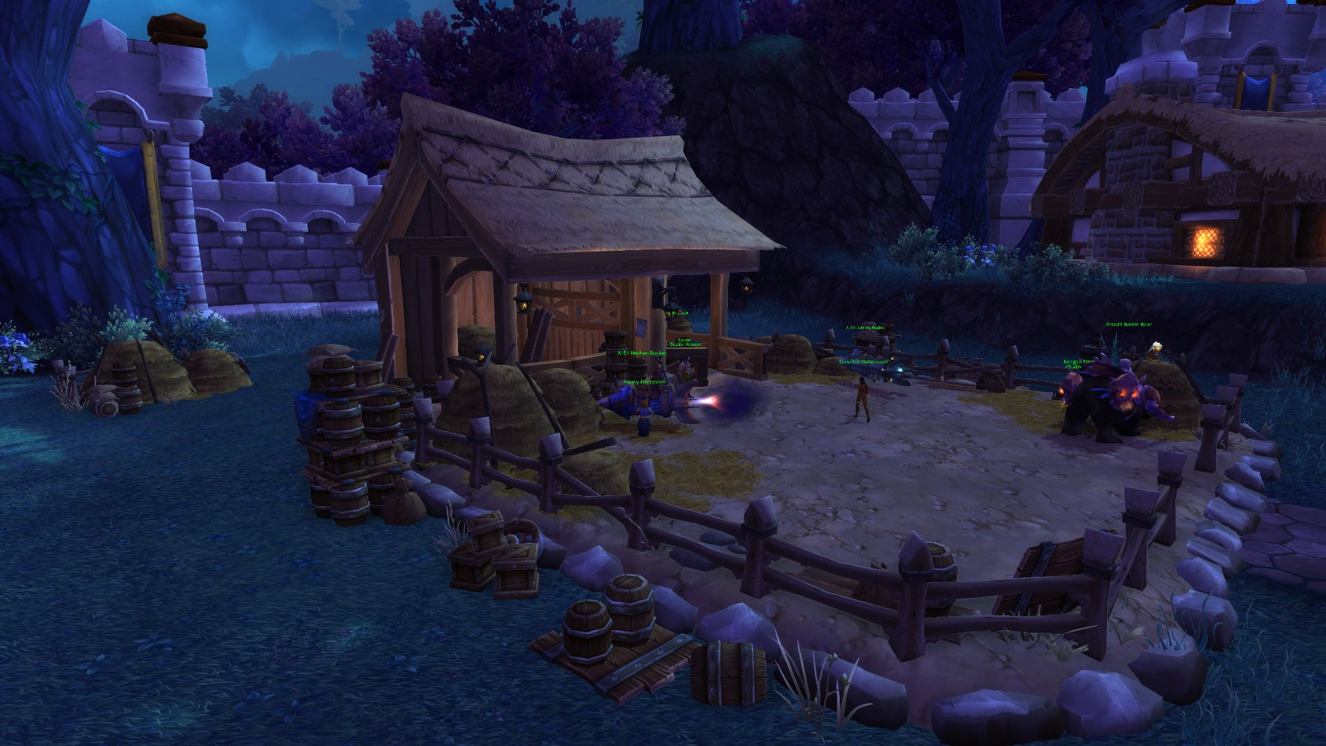 Warlords of draenor garrisons stables mmo champion level 1 alliance screenshots malvernweather Image collections