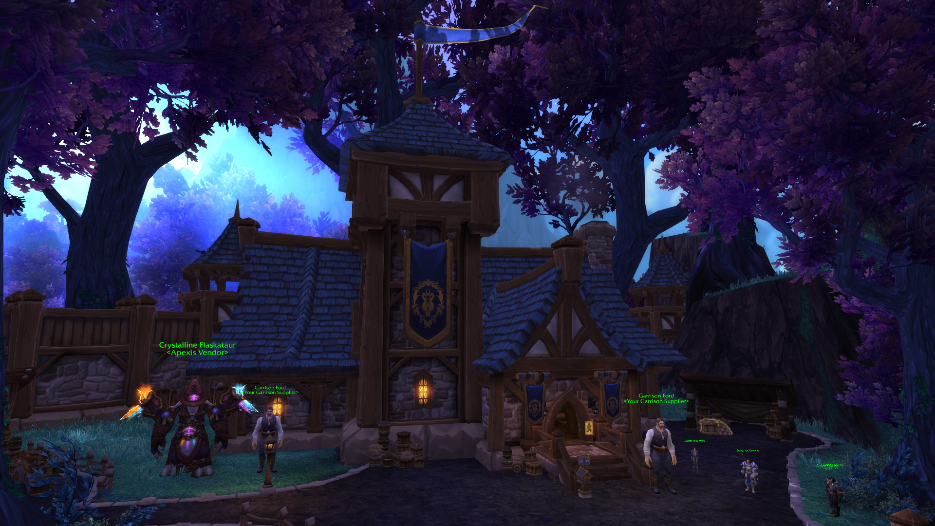Warlords of draenor garrisons town hall great hall mmo champion level 2 alliance screenshots malvernweather Gallery