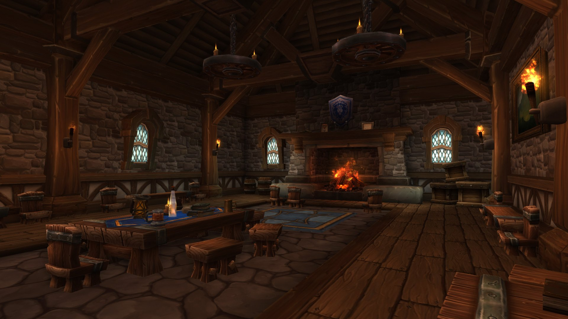 Warlords of draenor garrisons town hall great hall mmo champion level 2 horde screenshots malvernweather Images