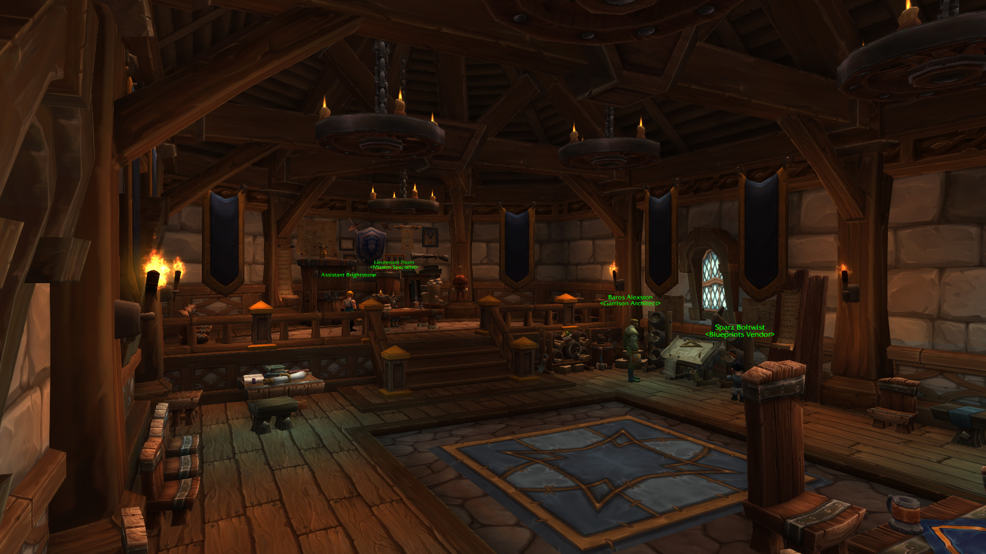 Warlords of draenor garrisons town hall great hall mmo champion level 3 alliance screenshots malvernweather Choice Image