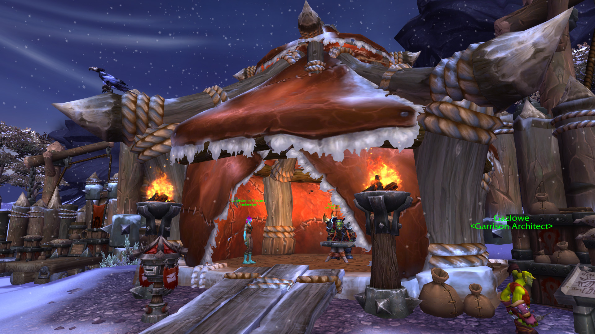 Warlords of draenor garrisons town hall great hall mmo champion level 2 alliance screenshots malvernweather Images