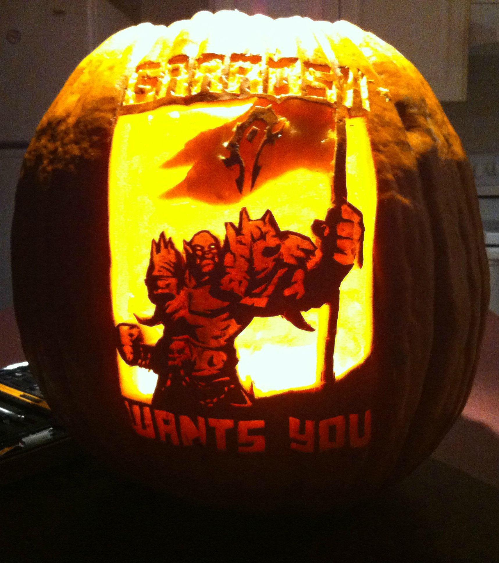 World Of Warcraft Pumpkin Stencils World Of Warcraft Pumpkin