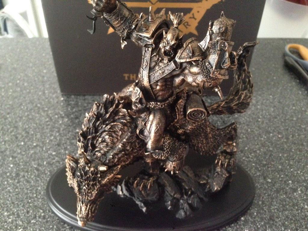 Gift To Veteran Players Orc Wolf Rider Mini Statue Mmo Champion