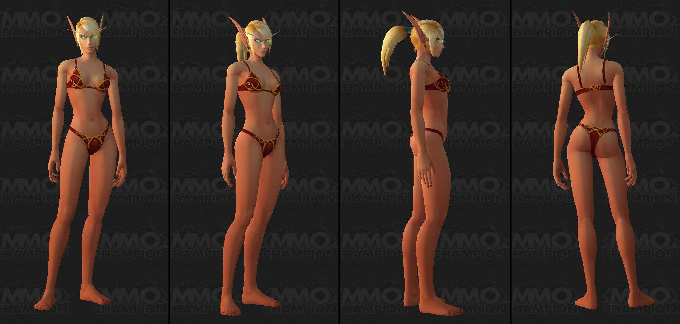female World blood elf of model warcraft