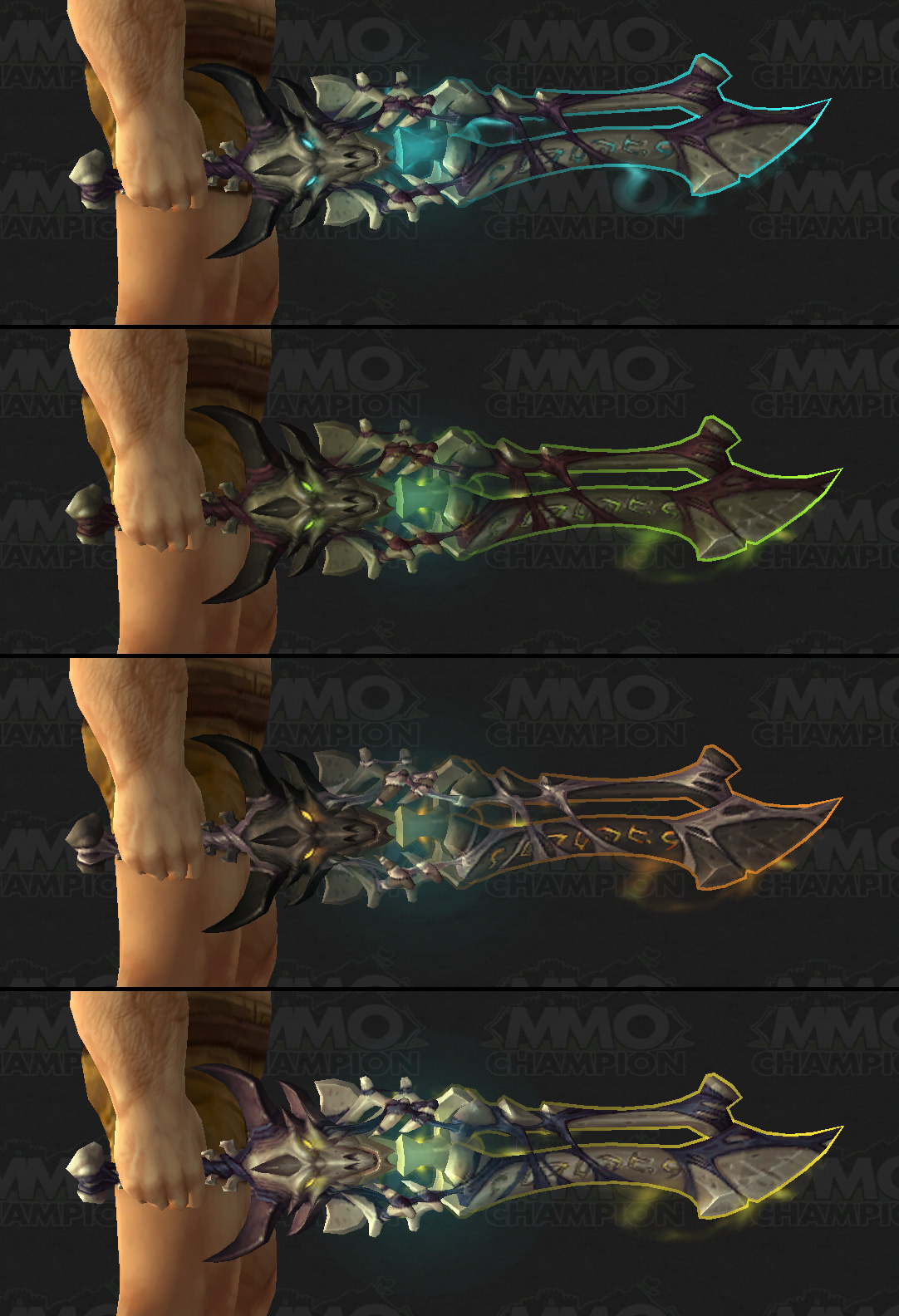 how to change artifact weapon appearance