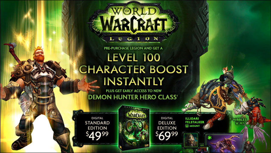 Legion Releasing by September 2016, Level 100 Boost, Early Demon