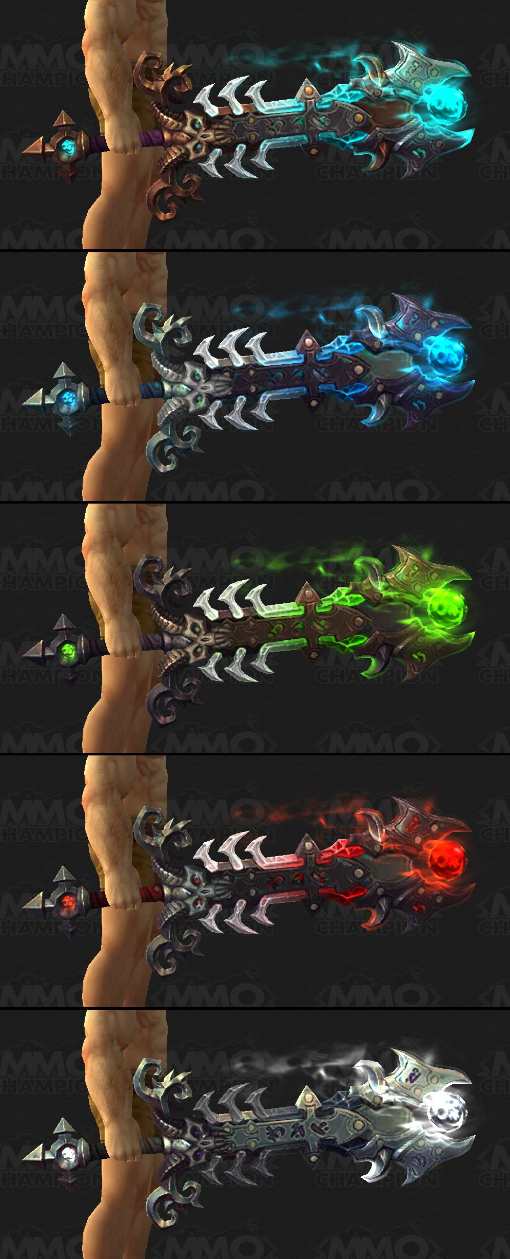 how to change appearance of artifact weapon