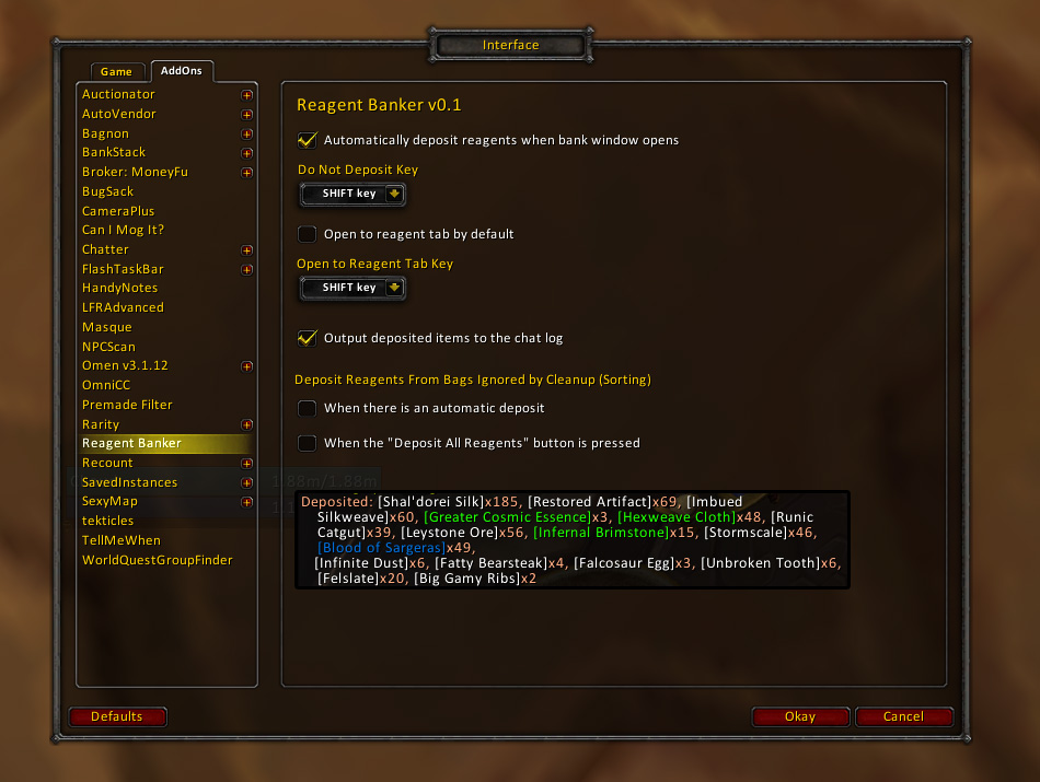 Reagent Banker Addon Patch 53 Toy Vendors Paladin Judgement Set