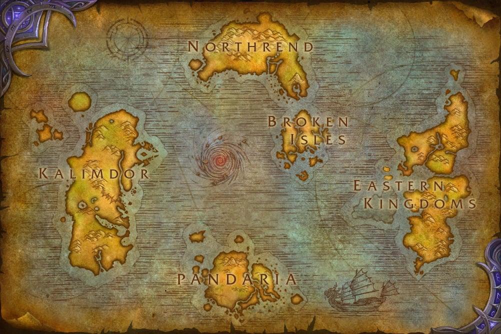 Géographie d'Azeroth : faits et spéculations LegionWorldMap