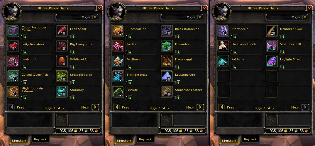 X Post From R Wow Blood Of Sargeras Vendor Nerfed