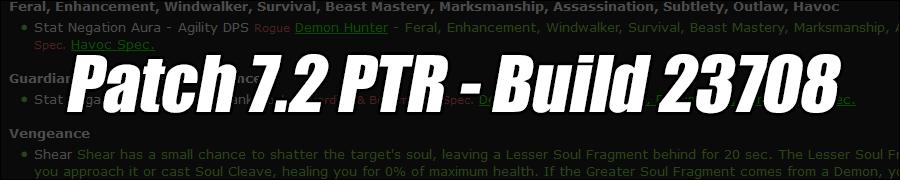 Patch 7.2 PTR - Build 23708