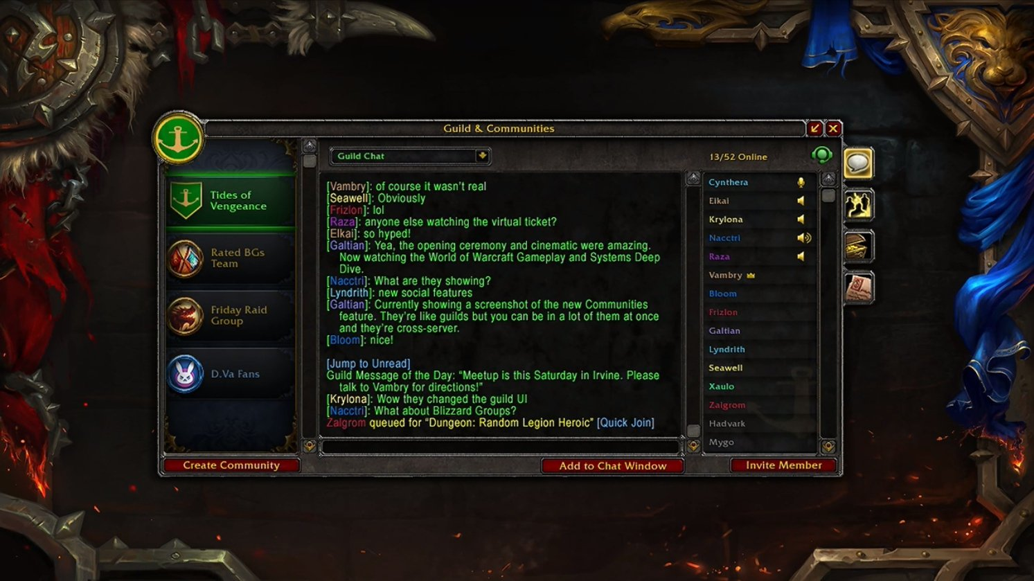 voice chat and battle net groups will be implemented into the wow