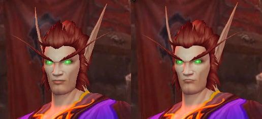 Blood Elf Male Face Update Barber Shop Skin Color Build