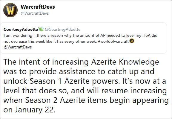 Azerite Knowledge, December 12 Hotfixes, 8 1 Undocumented Changes