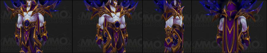 Battle For Azeroth Allied Races Void Elves Preview Mmo Champion Heritage armor sets are cosmetic rewards unique to each playable race. battle for azeroth allied races void
