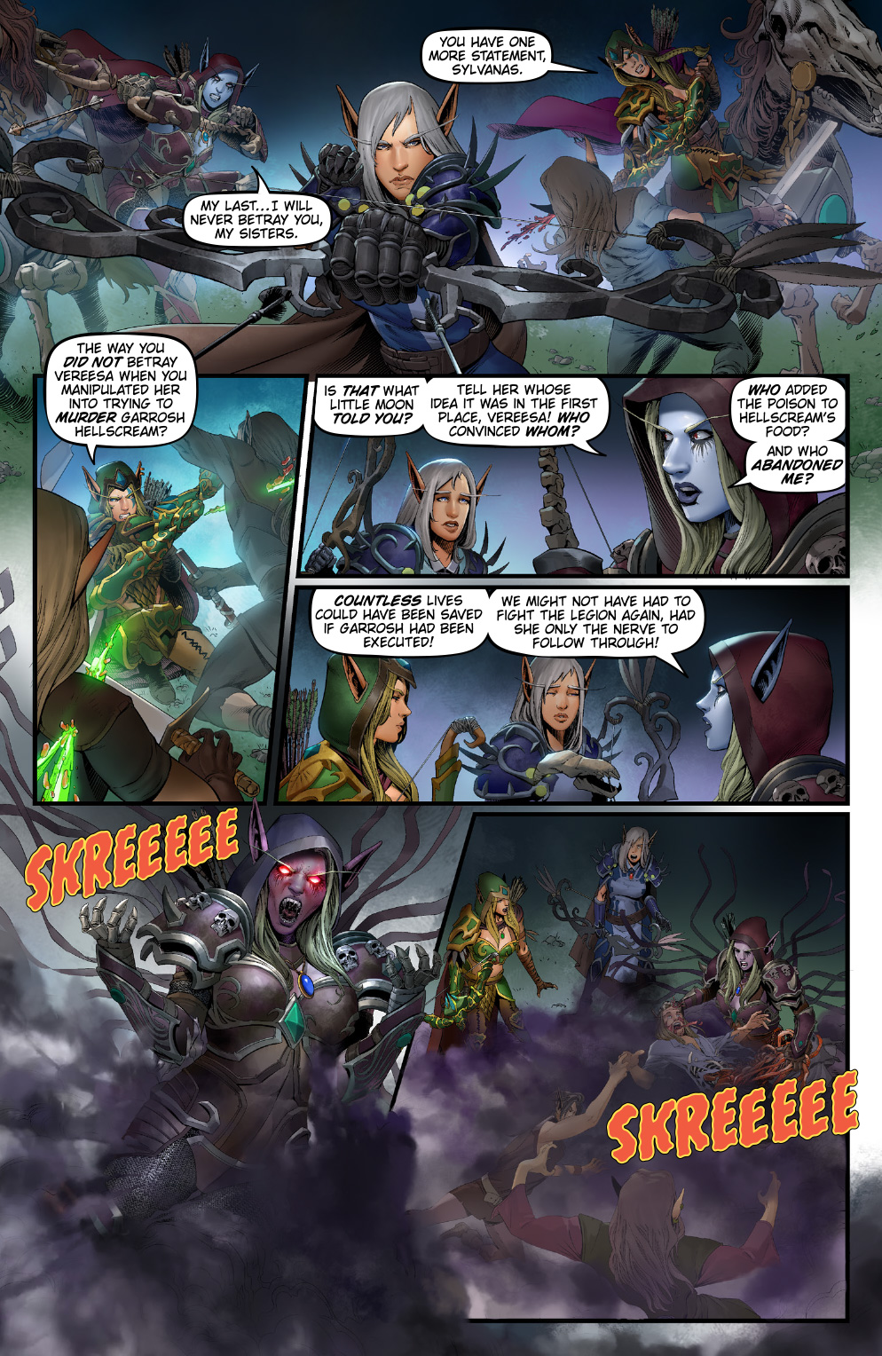 Three Sisters Battle For Azeroth Comics Issue 3 Mmo Champion