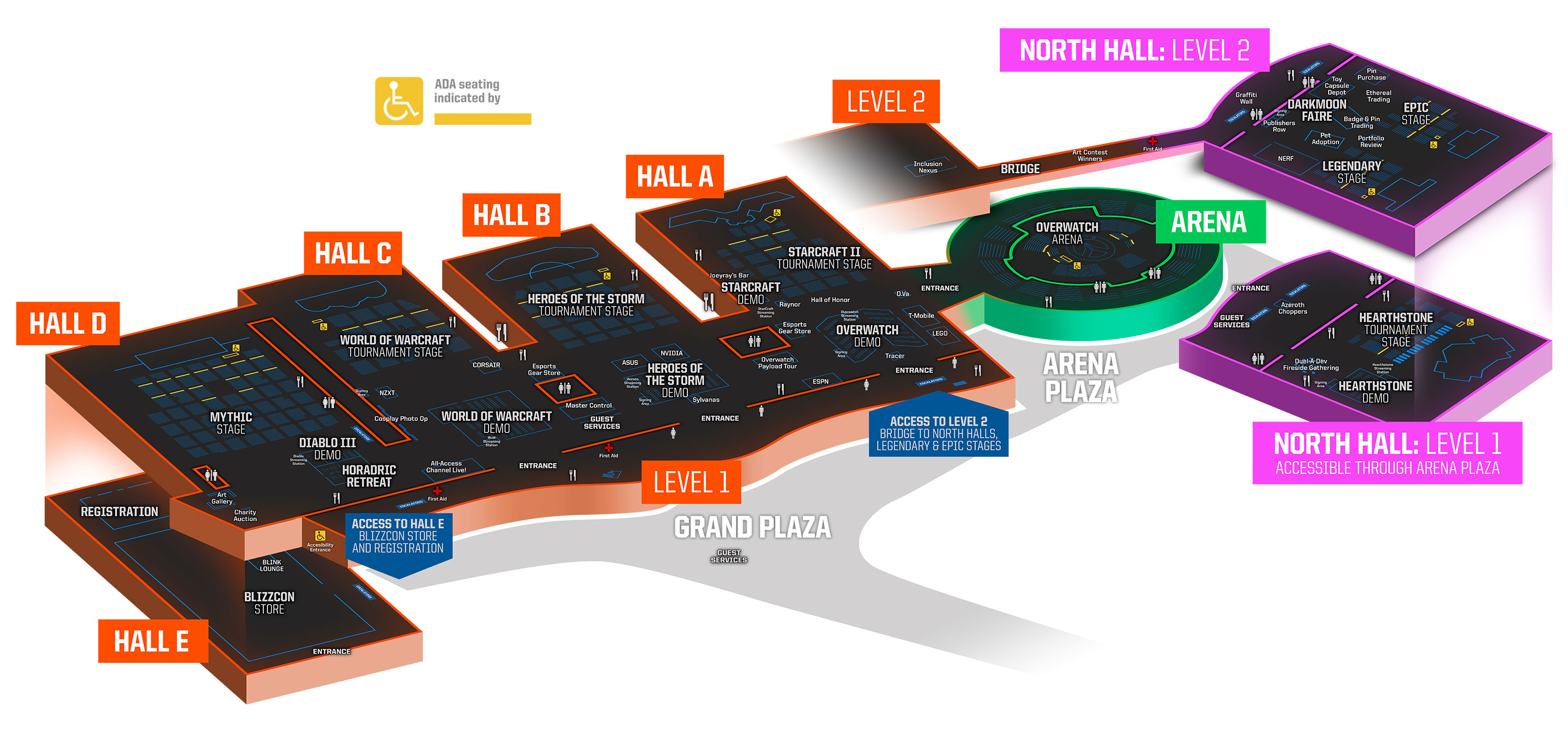 Blizzcon 2018 convention map revealed