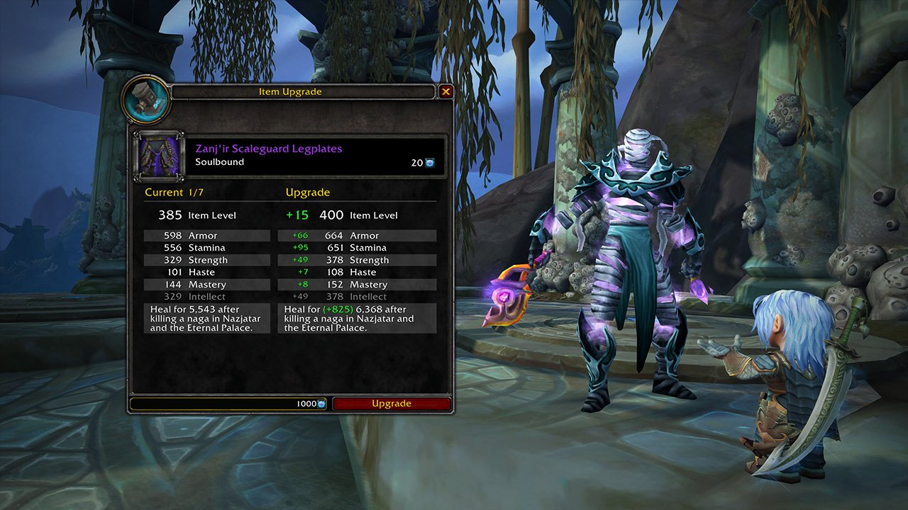 Patch 8 2 PTR - Benthic Gear Preview, Raid Testing Schedule