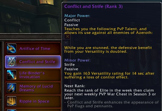 Patch 8 2 PTR - Conflict and Strife PvP Talent Essence - MMO